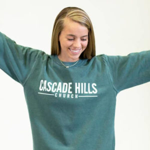Adult Crew Neck Sweatshirt - Blue Spruce