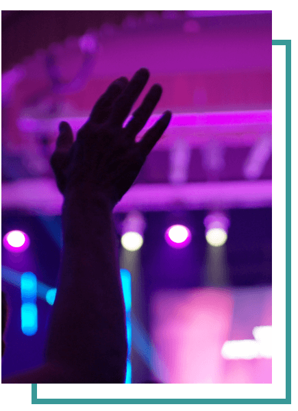 Prase Hand Lifted During Worship