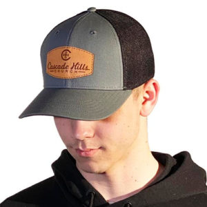 Cascade Hills Leather Patch Hat - Grey