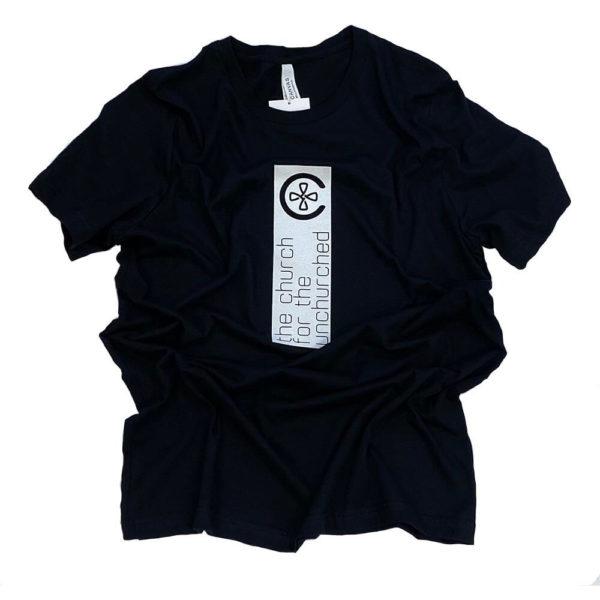 Unchurched Front Banner T-Shirt - Black