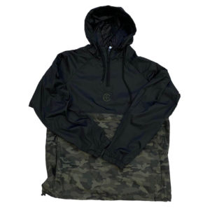 1/4 Zip Black/Camo Wind Pullover